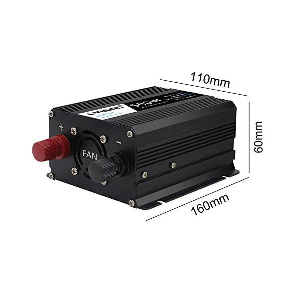 41MUwscKmcL LVYUAN 500W Wechselrichter DC 12 V auf 230V AC Spannungswandler Auto Konverter 12 V mit Dual USB Ports & EU-Steckdosen…