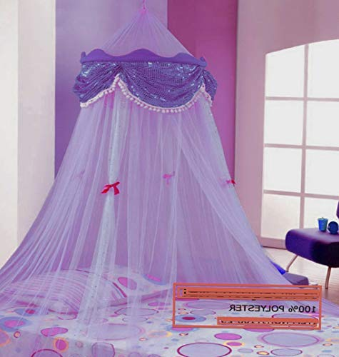 Hebel Perfect Princess Bed Canopy Mosquito NET with Sequins from USA | Model BDCNPS - 440 |