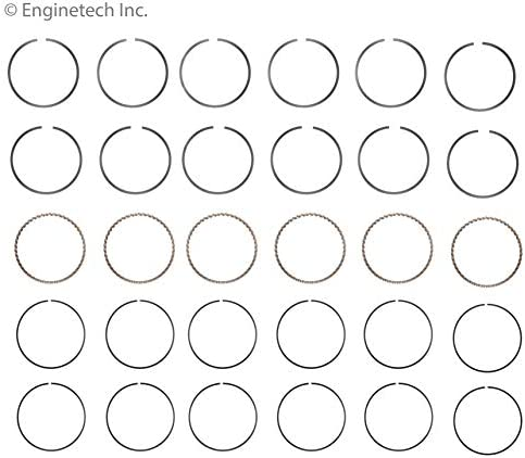 Enginetech M10226-STD Rings GM 4.3L 262 VIN W
