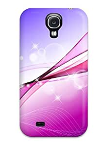 DeirdreAmaya ElUWRxX837GYPoI Case Cover Skin For Galaxy S4 (purple Curves And Bubbles)