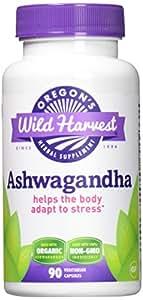 Oregon's Wild Harvest Ashwagandha Organic Supplement, 90 Count vegetarian capsules, 1200mg organic Ashwagandha root