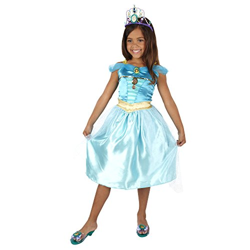 [Disney Princess Jasmine Bling Dress] (Jasmine And Aladdin Costumes)