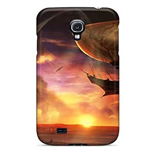 Premium Skyships Back Cover Snap On Case For Galaxy S4