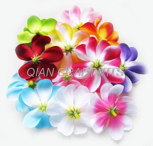 Dalab-70-Mixed-Plumeria-Frangipani-Heads-Artificial-Silk-Flower-3-inches-for-Wedding-Work-Make-Hair-Clips-Headbands-Hats