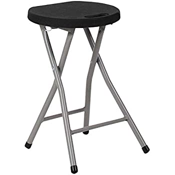 Amazon Com Fold Up Padded Stool Portable Bar Stool Metal