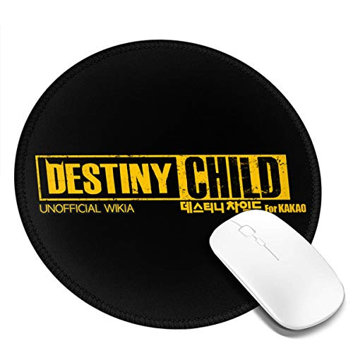 Destiny Child Round Mouse Pad Waterproof Smooth Ultra-Thin Precision Control Game Office7.9x7.9 in