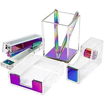 Amazon Com Modern Clear Rainbow Acrylic Desktop