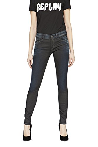 REPLAY Luz, Jeans Ajustados para Mujer Azul (Blue Denim)