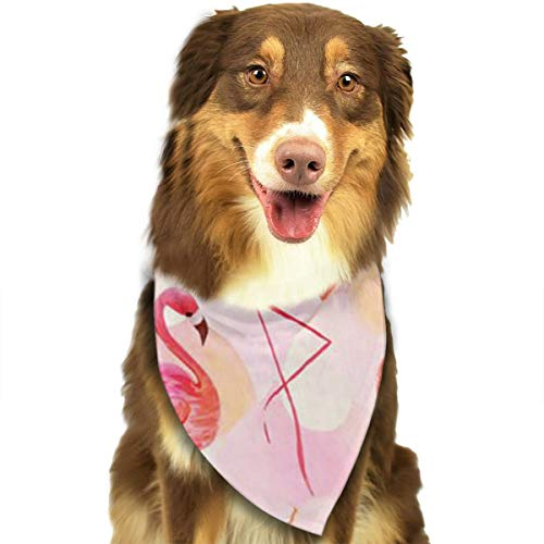 Pet Dog Bandana Scarf Pack Triangle Bibs Flamingo Logo Cool Printing Kerchief Set Accessories for Small to Large Dogs Cats Pets ()