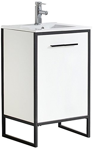Fine Fixtures VD20WS Vdara Bathroom Vanity Cabinet Set, 20