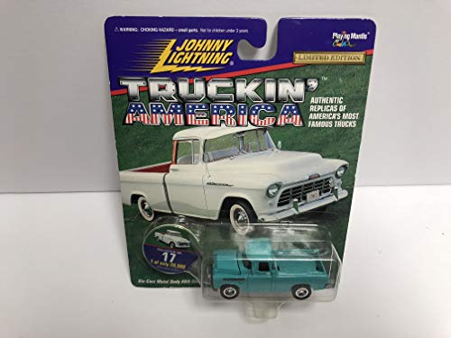 1955 Chevy Cameo JOHNNY LIGHTNING 1997 Truckin' America Limited Edition die-cast with Collectible Disc