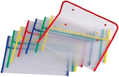 Miles Kimball Fabric Edged Clear Plastic Envelopes