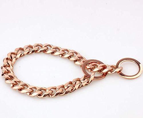 Collar Neck 19mm Dog Collar Necklace Strangler Adjustable Solid Steel Metal Snake Chain for Pets (51cm  15mm) (color   , Size   )