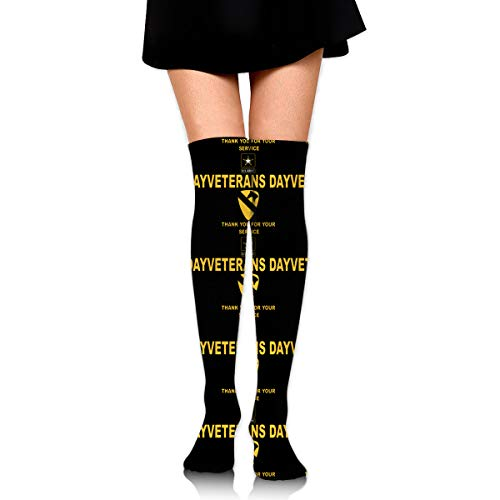 1st Cavalry Division, U.S. Army Veterans Day Womens Over Knee Thigh High Socks Stockings Knee High Tube Sock
