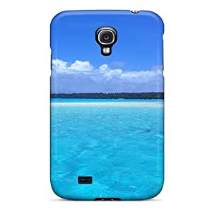 Awesome Xrg7098RRcx DennisEM Defender Tpu Hard Case Cover For Galaxy S4- Water Pale Blue