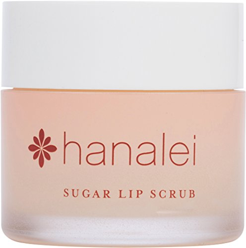 (Sugar Lip Scrub by Hanalei Company, Made with Raw Cane Sugar and Real Hawaiian Kukui Nut Oil, 22g (Cruelty free, Paraben free) MADE IN USA)