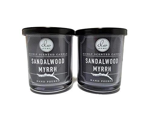Decoware Richly Scented Sandalwood Myrrh Candle 4oz- 2 Pack