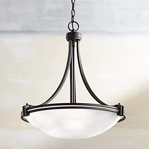 Possini Euro Deco Bronze 21 1 2 Wide Pendant Chandelier
