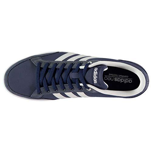 de Blanco Zapatilla adidas Baja Azul Y Cuero Hombre fP06wxz