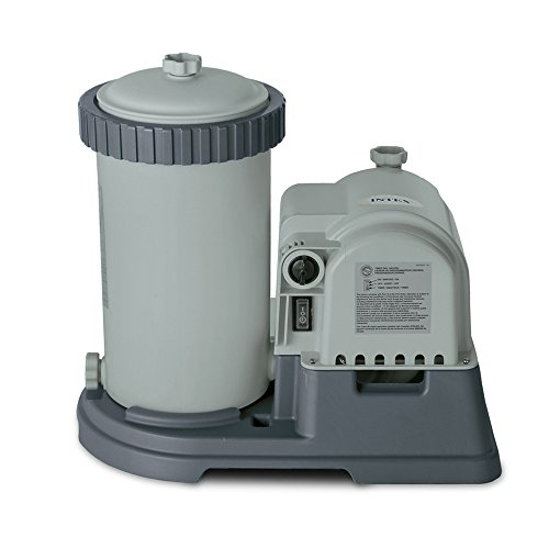 Intex 28633EG Krystal Clear Cartridge Filter Pump for Above Ground Pools, 2500 GPH Pump Flow Rate, 110-120V with GFCI (System Cartridge Pool Filter)