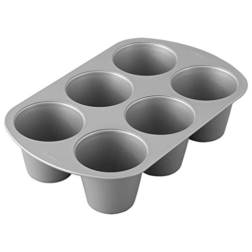 Wilton Giant Cupcake Pan, 6-Cup Jumbo Muffin and Cupcake - Apple Recipe Muffins