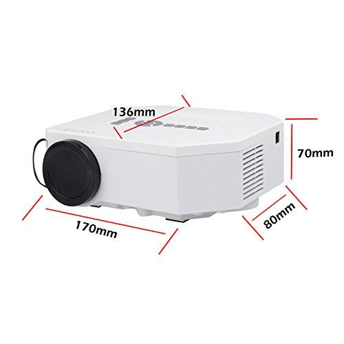 Lemonbest portable hdmi mini hd home led projector pocket for 1080p mini projector reviews
