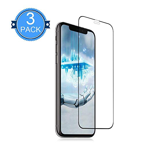 [3 Pack] iPhone XS/X Glass Screen Protector Live2Pedal Screen Protectors [9H Hardness][Full Cover][No Bubbles] Compatible with Apple iPhone XS/X [5.8Inch]