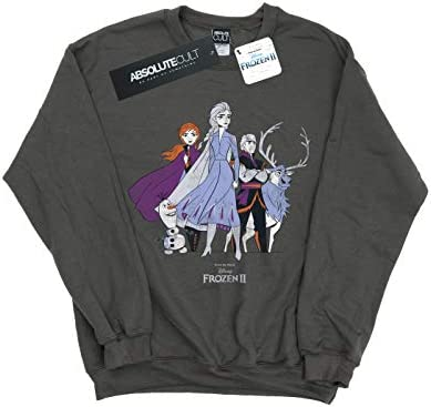 Disney Herren Frozen 2 Distressed Group Sweatshirt Holzkohle Medium