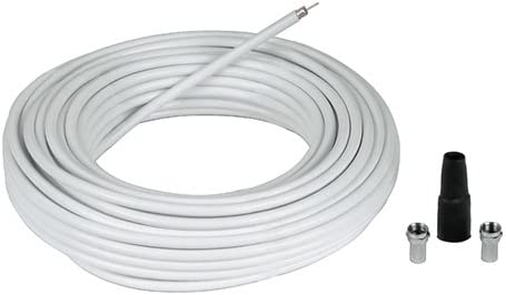 Hama 56607 20m Blanco - Cable coaxial (20 m, Blanco, 5,8 mm, 4 x F)