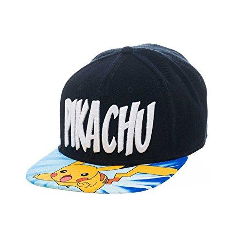 Pokemon Baseball Cap Pikachu Lightning Attack Official Snapback Cap