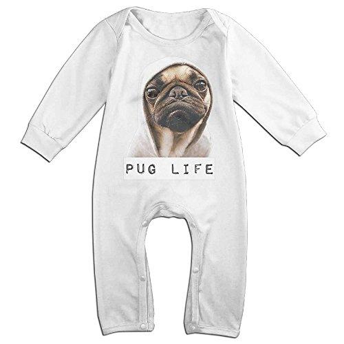 Exhaust Romper (Pug Life Baby Onesie Romper Jumpsuit Newborn Baby Clothes)