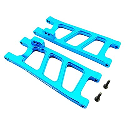 Hot Racing ECT5606 Blue Aluminum Rear Suspension Arms - ECX 2wd: Toys & Games