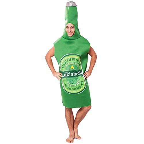 EraSpooky Adult Halloween Green Beer Bottle Costume(Green, OneSize) - Bottle Of Beer Costume