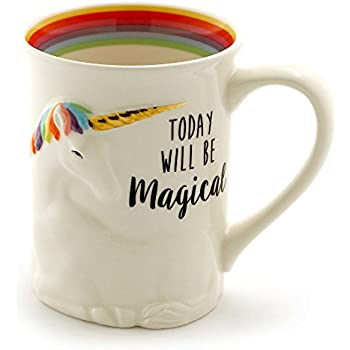 Attractive Enesco 6000548 Our Name Is Mud U201cMagical Unicornu201d Stoneware Sculpted Coffee  Mug, 16 Oz, Multicolor