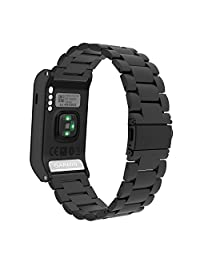 MoKo Watch Band for Garmin Vivoactive HR, Universal Stainless Steel Adjustbale Watch Band Strap Bracelet with Adapter Tools ONLY for Garmin Vivoactive HR Sports GPS Smart Watch, Black