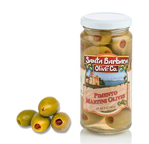 Santa Barbara Martini Olives, 5-Ounce Jars (Pack of 6)