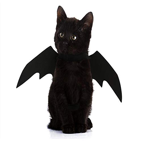 yangxiurongdedian YANGXIURONG Halloween Decoration Props Pet Dog/Cat Cosplay Vampire Bat Fancy Dress Party Costume Wings Pumpkin Bell -