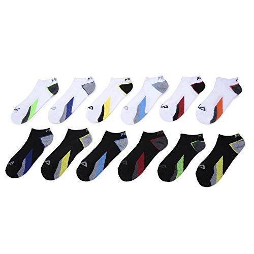 Fila Mens 12 Pack Athletic No Show Sport Socks