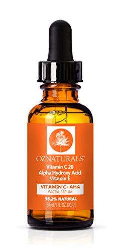OZNaturals Vitamin C + AHA Facial Serum, 30 ml