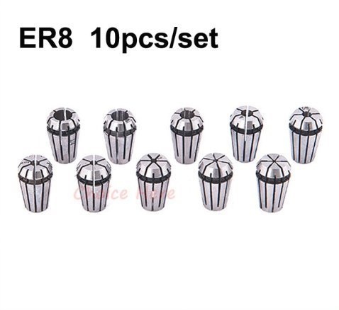 (10Pcs ER8 Collet Spring Chuck for CNC Spindle Motor Engraving/Grinding/Milling/Boring/Drilling/Tapping)