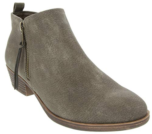 Rampage Women's Tarragon Ankle Bootie Olive Embossed 8