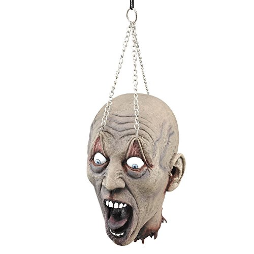 Bristol Novelty HI184 Hanging Dead Head with Chain Prop, Multi-Colour, One Size -