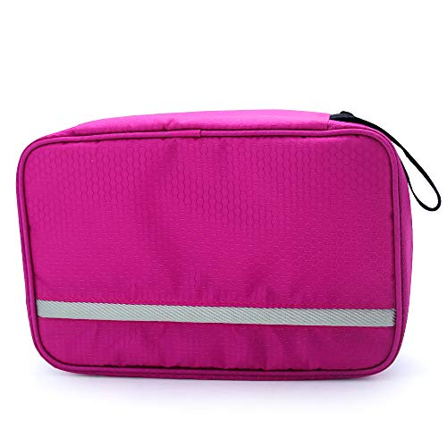 Travel Toiletry Bag Business Toiletries Bag for Men Shaving Kit Waterproof Compact Hanging Travel Cosmetic Pouch Case for Women (Hot Pink) by Relavel (Image #3)