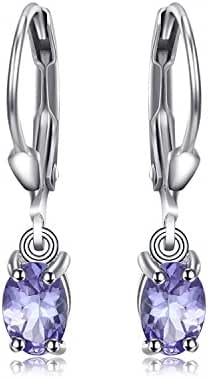JewelryPalace 1ct Natural Tanzanite LeverBack Earrings 925 Sterling Silver