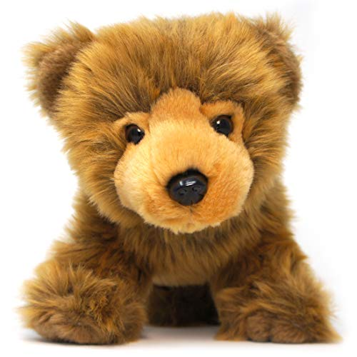 VIAHART Borya The Baby Brown Grizzly Bear | 9 Inch Realistic Looking Stuffed Animal Plush | by Tiger Tale Toys ()