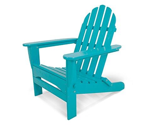 POLYWOOD AD5030AR Classic Folding Adirondack Chair, Height: 35.00 - Width: 29 - Depth: 35.00, Aruba