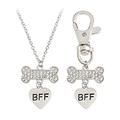 Best Friend Forever Pendent Necklace with Key Chain Set (BFF Set) big discount