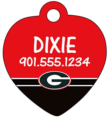 Georgia Bulldogs Personalized Dog Tag Cat Tag Pet Id Tag - Georgia Bulldog Puppy Collar