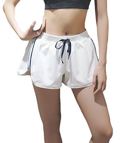 Running Bianca Coulisse Fitness Pantaloni Sportivi Lanceyy Corti Glamorous Elastico Semplice Pantaloncini Vita Con In Casuale Shorts Estivi Donna qwZYBO7T