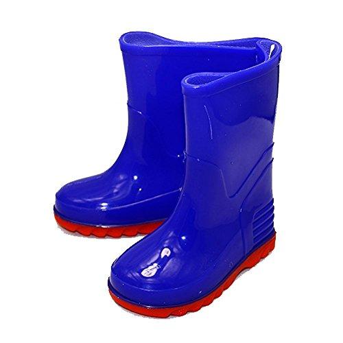 SendIt4me Kleinkinder-Blau/Rot Wellington Boots Jungen oder Mädchen Blau